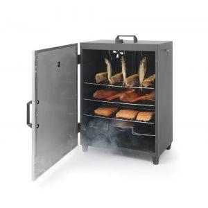 Afumatoare electrica 1600 W cu 3 rafturi si 3 agatatoare pentru carne 540x380(H)720 mm Inox