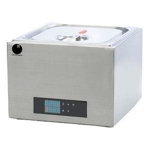 Aparat de gatit Sous-Vide Cookmania, 400W, capacitate 13 lt, display digital, suport alimente inclus, corp inox, 29x37x43 cm, Hendi