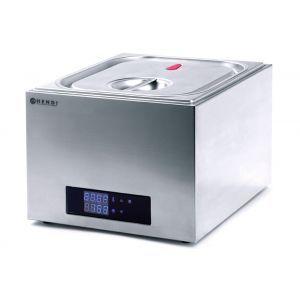 Aparat de gatit Sous-Vide GN 2/3, 400 W, Termostat 35°-90°C, Capac sigilat ermetic, Argintiu