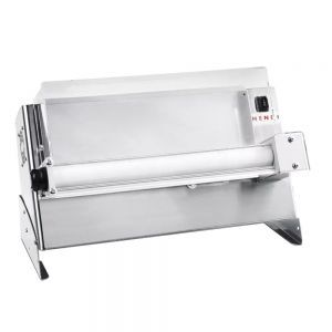Aparat electric pentru formatare aluat de pizza sau paste, 300, 1 Rola, 250 W diametru disc aluat de la 14 cm pana la 30 cm 480x335x(H)430mm