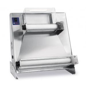 Aparat electric pentru formatare aluat de pizza sau paste, 500, 2 Role 370W diametru disc aluat de la 26 cm pana la 45 cm 635x410x(H)680 mm