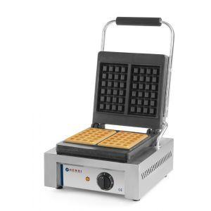 Aparat preparare vafe/waffles, profesional, 1500W, suprafata gatire din fonta cu start anti-lipire, 480x320x(H)226 mm