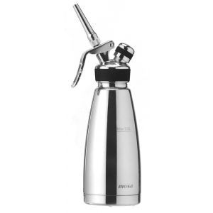 Aparat / sifon frisca, 0,5 litri, corp inox, Profi Line, include 3 duze si perie curatare, ø105 x 278 mm