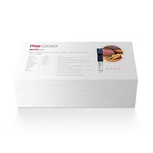 Aparat Sous-Vide Stick iVide IPX7, 800 W, App, Temperatura 25-90°C, 8 L a, Ecran luminos, Negru