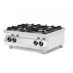 Aragaz profesional pe gaz Kitchen Line cu 4 arzatoare, pentru masa 800x700x(H)310 mm