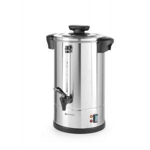 """Boiler pentru bauturi calde cu un singur perete, 1650 W, 12 L, Temp 90˚C C, Argintiu, sistem inchidere """"Twist-lock"""", Inox, 360x380x(H)462 mm"""