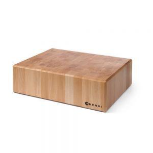 Butuc pentru transare carne, 40x50x(H)15 cm, lemn,
