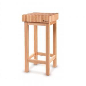 Butuc pentru transat carne / alimente din lemn fag pe suport din lemn, 50x40x(H)15 cm