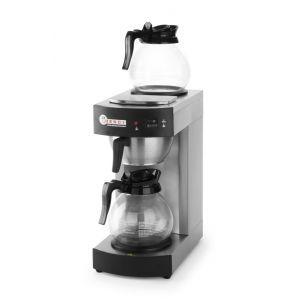 Cafetiera profesionala, cana 1.8 lt, 2100W, 2 plite mentinere la cald, carcasa si suport filtru din inox