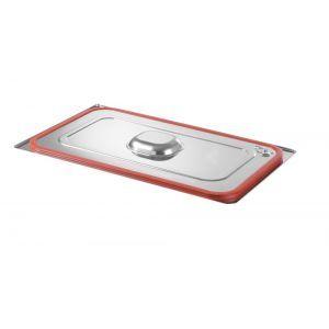 Capac Gastronorm cu banda siliconata GN 1/4 - gama Profi Line, otel inoxidabil