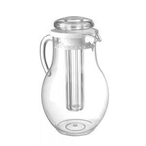 Carafa suc, cu tub gheata pentru racire, plastic transparent rezistent la zgarieturi, 2,2 l, ø15x26 cm