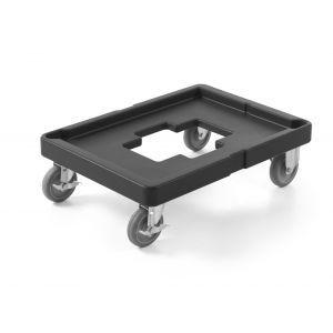 Carucior platforma cu roti pentru transport cutii, 71x53x(H)23 cm,