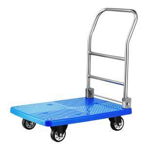 Carucior platforma pliabil, sustine pana la 150 kg, 730 x 480 x (H)825 mm