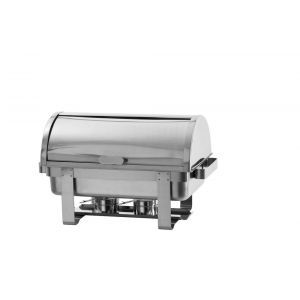 Chafing dish capac rolltop Gastronorm GN1/1, inox, 59x34x(H)40 cm, Model Rental-Top