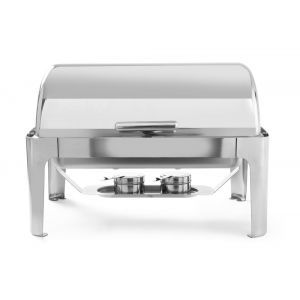 Chafing dish cu capac Rolltop, Gastronorm 1/1, 9lt, inox, 66x49x(H)46 cm, include 2 suporturi pentru combustibil incalzire