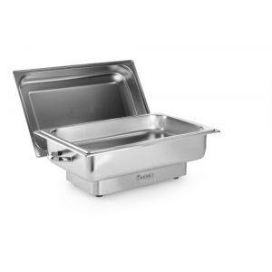Chafing dish electric GN 1/1, 9lt, inox, termostat 0-100 gr C, 1000W, 615x355x280 mm, Model Pollina