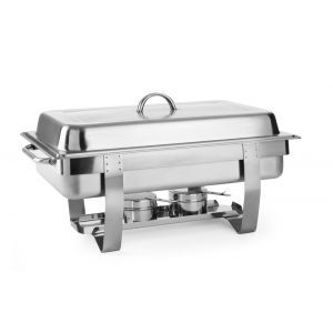 Chafing dish Gastronorm GN 1/1, inox, 9lt, 585x385x(H)315 mm, Fiora