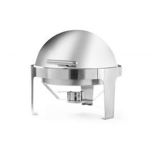 Chafing dish rotund cu capac rolltop, inox, 5,6 lt, 510x540x(H)480 mm, sistem deschidere fara zgomot