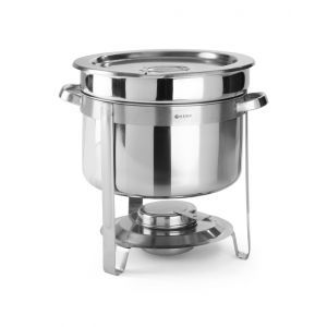 Chafing dish rotund pentru supa, 8 lt, inox, cu capac, 37x(H)32.5 cm,