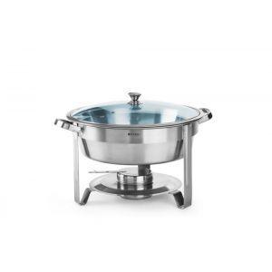 Chafing dish rotund pt servire bufet, inox, 390x(H)270 mm, 3.5 litri,