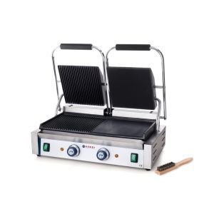Contact grill - versiune dubla - stanga - neted si dreapta - striat, electric