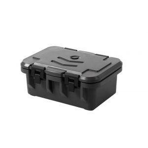 Container izolat catering GN 1/1, incarcare frontala, marime interioara GN 1/1 - H 15 cm, Amerbox, dimensiuni exterioare 630x440x(H)260 mm