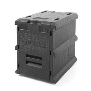Container termoizolant pentru tansport mancare sau catering, 66 lt, capacitate incarcare 5 X tavi GN 1/1 (H=65 mm)