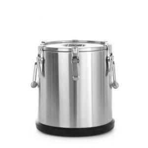 Container termoizolant pt trransport alimente, 35 litri, inox, capac dublu, ø330x(H)570 mm