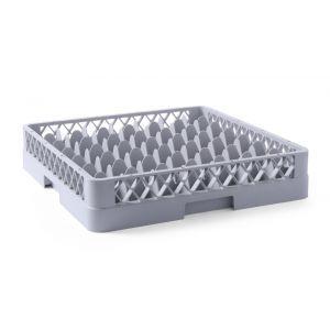 Cos pahare pentru masina de spalat pahare Polipropilena 49 compartimente 500x500x(H)104 mm Gri