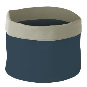 Cos pentru paine, patrat, bumbac - 200x200x(H)200 mm - albastru inchis