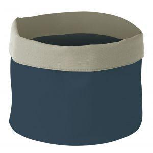 Cos pentru paine, rotund, bumbac - 250x(H)160 mm - albastru inchis