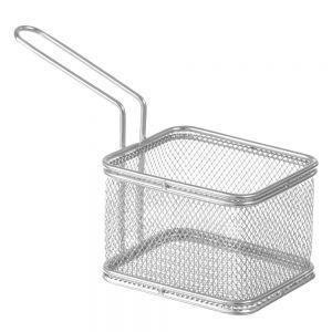 Cos servire Mini-fry pentru cartofi prajiti, otel inoxidabil, 12x10x(H)8 cm