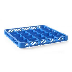 Cos universal pentru masina de spalat vase polietilena, Albastru 36 compartimente 500x500x(H)45 mm
