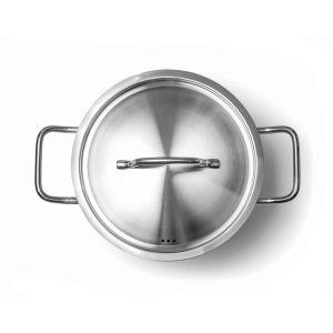 Cratita cu capac, 5 lt, diam 24x(H)11.5 cm, inox 18/10, Kitchen Line