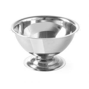 Cupa servire inghetata, cu picior, inox, 90x(H)50 mm,