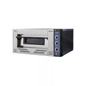 Cuptor pizza gaz 9 620x620x(H)150 mm 1 camera Inox Interval de temperatura: de la 0˚C la 450˚C Consum de gaz G20 sau G25: 2,852 m³/h