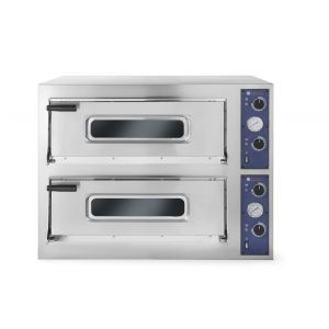 Cuptor pizza profesional Basic 44 Inox 2 camere 9400 W interval temperatura 50°C - 500°C 2x 660x660x(H)140 mm