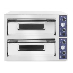 Cuptor pizza profesional Basic XL 66 Inox 2 camere 18000 W interval temperatura 50°C - 500°C 1000x1204x(H)745 mm