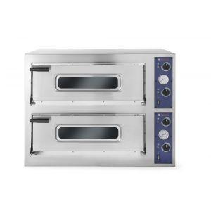Cuptor pizza profesional Basic XXL 66 4 Inox 2 camere 18000 W interval temperatura 50°C - 500°C 2x1080x720x(H)140 mm