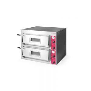 Cuptor pizza profesional Inox 2 camere 8400 W interval temperatura 0°C - 500°C 890x730x (H) 750 mm