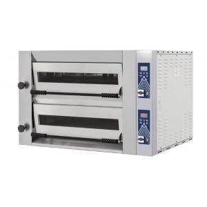 Cuptor pizza profesional Sideup 44D Inox 2 camere 13200 W interval temperatura 50°C - 500°C 2x 700x700x(H)150 mm