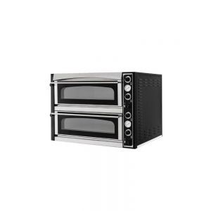 Cuptor pizza profesional Superior XL 44 Glass Inox 2 camere 12000 W interval temperatura 50°C - 500°C 2x 720x720x(H)140 mm