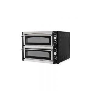 Cuptor pizza profesional Superior XL 44 Glass Inox 2 camere 12000 W interval temperatura 50°C - 500°C 2x 720x720x(H)140 mm