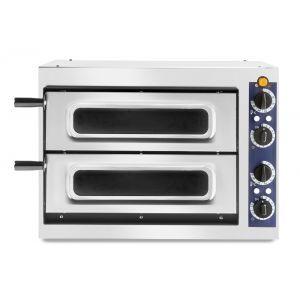 Cuptor profesional pizza 2/40 Vetro 2400 W cu 2 camere, Inox 567x427,5x(H)428 mm