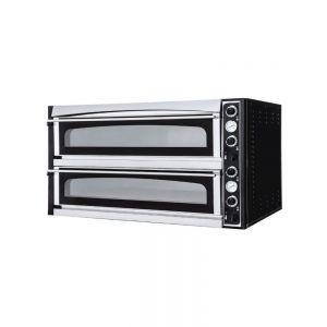 Cuptor profesional pizza Superior Glass XL cu camere complet captusite cu piatra de samota Inoz 50˚C - 500˚C 2 camere 26400 W 1360x1300x(H)745 mm