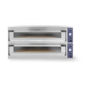 Cuptor profesional pizza Trays 66 L Glass 2 camere 20400 W interval de temperatura de la 50°C la 500°C 2x 1230x840x(H)175 mm
