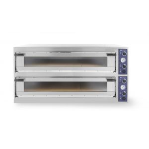 Cuptor profesional pizza Trays 99 Glass 2 camere 30600 W interval de temperatura de la 50°C la 500°C 2x 1230x1080x(H)175 mm