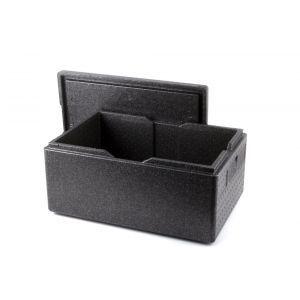 Cutie termoizolanta cu capac 46 lt, GN1/1, tip thermobox, interior 538x338x(H)257 mm, Kitchen Line, spuma polipropilenica, exterior 600x400x(H)320 mm