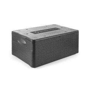 Cutie termoizolanta cu capac / thermobox, 40 lt, GN1/1, Revolution, din spuma polipropilenica, 600x400x(H)285 mm