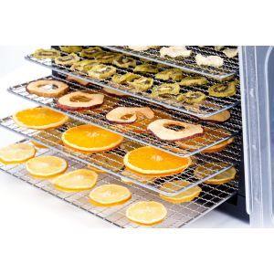 Deshidrator alimente Kitchen Line, 500 W, 6 tavi, temperatura reglabila 35-70°C, Negru
